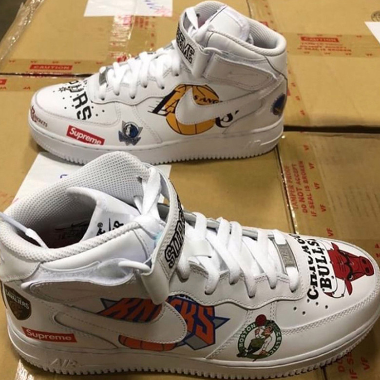 air force 1 logo nba Nike supreme